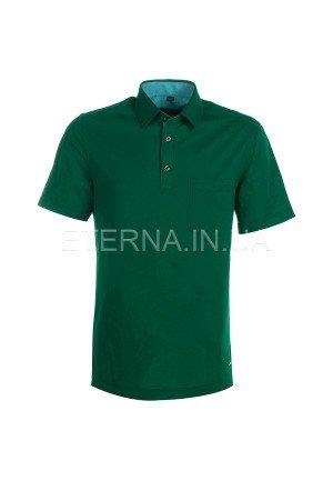 Мужская рубашка-поло темно-зеленая 2203/40/C547 ETERNA