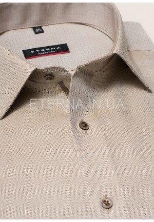 Мужская рубашка бежево-коричневая 4408/26/X14P/72 ETERNA