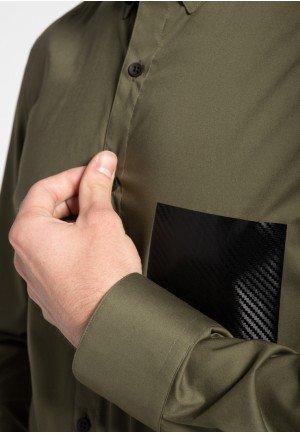 Мужская рубашка  зеленая 8761/47/F524 ETERNA