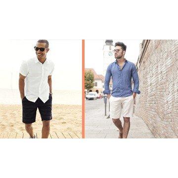 Инструкция к применению: шорты и мужская рубашка