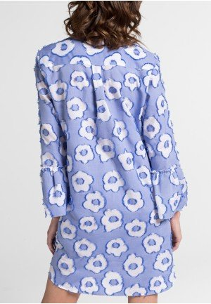 Женская блузка платье с принтом 6501/15/RP02/B ETERNA