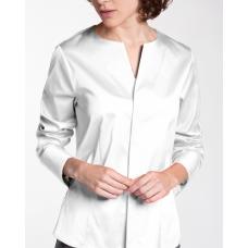Белая женская блуза ETERNA 5415/00/D751/B хлопок с эластаном