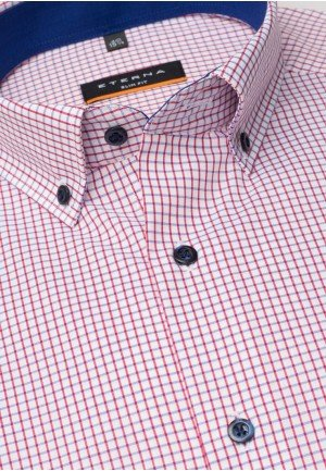 Мужская рубашка в клетку 3043/55/F143 ETERNA