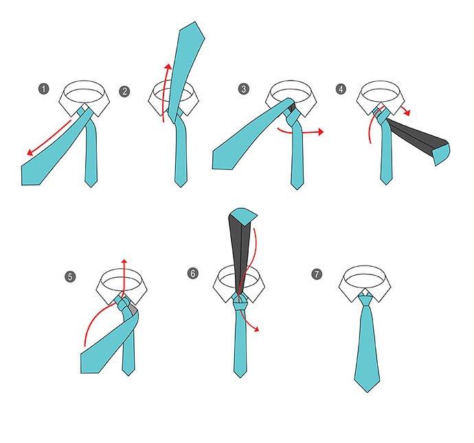 как завязать галстук фото