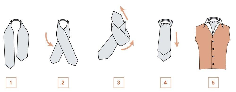 как правильно завязать шейный платок